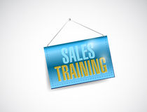 Sales training banner sign illustration design Royalty Free Stock Images