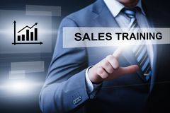 Sales Training Webinar Corporate Education Internet Business Technology Concept.  Stock Photography
