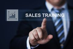 Sales Training Webinar Corporate Education Internet Business Technology Concept.  Stock Photos