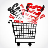 Sales trolley Stock Photography