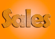 Sales typography new bright colours marketing. Royalty Free Stock Photos