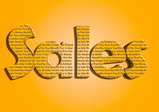 Sales typography new bright colours marketing. Stock Image