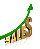 Sales Are Up! stock images