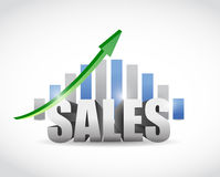 Sales up sign graph illustration design Royalty Free Stock Images