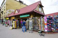 Sales of various small stuff in Zakopane Stock Photography