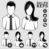 Sales Vector People Royalty Free Stock Images