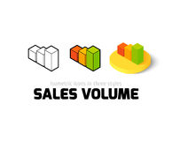 Sales volume icon in different style Royalty Free Stock Images