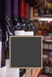 Sales of wine in wine shop Stock Images