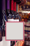 Sales of wine in wine shop Royalty Free Stock Photography