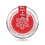 Sales winter holidays advertising icon / sticker Royalty Free Stock Photos
