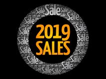 2019 SALES word cloud collage royalty free stock photo