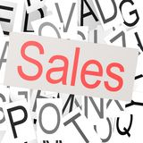 Sales word cloud Royalty Free Stock Photo