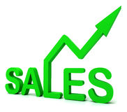 Sales Word Shows Business Or Commerce Royalty Free Stock Image