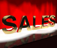 Sales Word On Stage Showing Selling Stock Photography