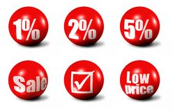 Sales Words And Numbers Icons Royalty Free Stock Photos
