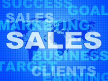 Sales Words Represents Corporation Sell And Promotion Stock Images