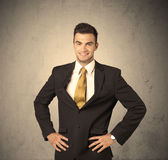 Sales worker making face expressions Royalty Free Stock Photos