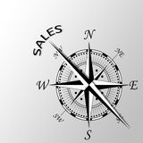 Sales written aside compass. Illustration of sales written aside compass Royalty Free Stock Photo