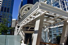 Salesforce Park on top of the new Transbay Transit Center, 15. The open space Salesforce Park on the roof of San Francisco`s new Transbay Transit Center is stock photography
