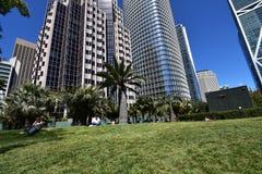Salesforcepark bovenop het nieuwe Transbay-Doorgangscentrum, 14 royalty-vrije stock afbeelding
