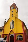 Salesian church in the center of Ushuaia Argentina Stock Photos