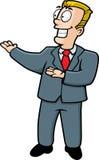 Salesman. A salesman making a presentation stock illustration
