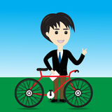 Salesman bicycle Royalty Free Stock Photo