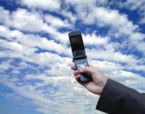 Salesman calling a customer stock photos