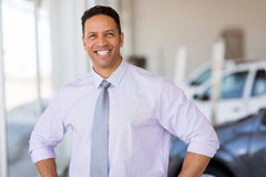 Salesman car dealership Royalty Free Stock Photography