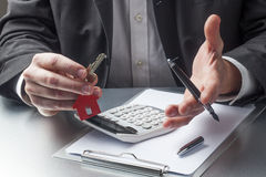 Salesman explaining home financing
