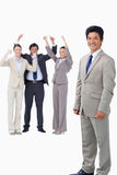 Salesman getting celebrated by his team Royalty Free Stock Photography
