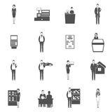 Salesman Icons Set Stock Images