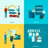 Salesman Icons Set Royalty Free Stock Photos
