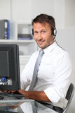 Salesman in the office Stock Image