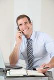 Salesman on the phone Stock Photos