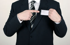 Salesman pointing Royalty Free Stock Image