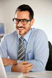 Salesman portrait Royalty Free Stock Photos