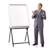 Salesman with Presentation Easel Royalty Free Stock Images
