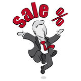 Salesman and sale Stock Images