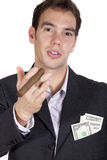 Salesman talking Stock Photo