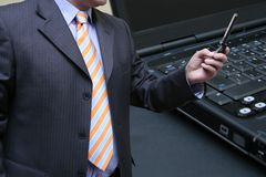 Salesman testing Stock Photos
