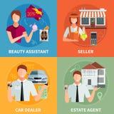 Salesman 2x2 Design Concept Royalty Free Stock Photos
