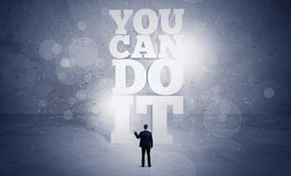 Salesman you can do it motivation Royalty Free Stock Images