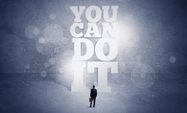 Salesman you can do it motivation Stock Photo