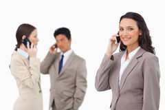 Salespeople on the phone Stock Photography