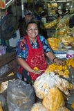 Saleswoman at the Flower Market in Bangkok Stock Photography