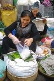 Saleswoman of rice vermicelli royalty free stock photos