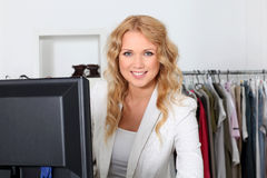 Saleswoman in store Stock Photos