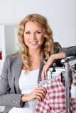 Saleswoman in store Stock Image