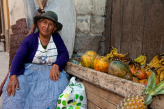 Saleswoman, Sudamerica Immagini Stock